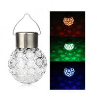 7 Colors Solar Glass Globe Pendant Light 4500K - 5200K For Garden / Patio Manufactures