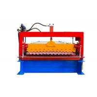 Industrial Metal Roof Panel Machine , Blue Color Roofing Sheet Forming Machine  Manufactures