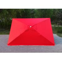 Quality 4 Ribs Red Rectangular Outdoor Umbrella 2.3mx3.1m For Tea Shop Advertising for sale