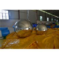 2.5 M 0.3MM PVC Silvery Inflatable Mirror Ball / Advertising Air Balloons For Event / Exihibition Manufactures
