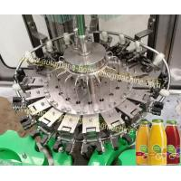 Glass Bottle Rinsing Corking Beverage Filling Machine For Nectar , Wine , Alcoholic Manufactures