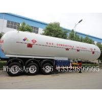 New Product Q345R/Q370R 56m3 lpg tank trailer with sun shield for sale, CLW brand BPW 3 axles bullet lpg gas trailer Manufactures