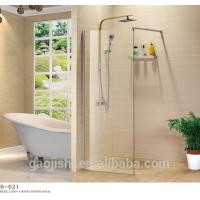 China made in China single glass free walking in shower screen on sale