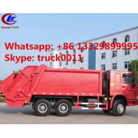 2016 new sinotruk howo brand 20ton compactor garbage truck for sale, hot sale best price howo 6x4 garbage truck for sale Manufactures