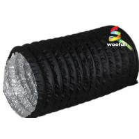 PVC Aluminum Portable Fire Rated Flexible Ducting With 3000 Pa Operating Pressure Manufactures