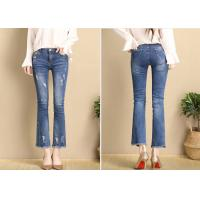 XS - XXL Slim Fit Fashion Ladies Jeans Pant With Rips And Wide Hem 2020 Manufactures