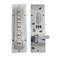 Vandal Proof Panel Mount Keypad , Industrial Matrix Function Keypad 5 Keys Manufactures