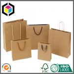 Plain Brown No Printing Shopping Paper Bag; Brown Kraft Paper Shopping Bag Manufactures