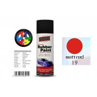 Good Hardness Rubber Coat Spray Paint  Matt Red Color APK-8201-19 Manufactures