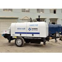 Mini Stationary Beton Cement Pumping Machine Diesel Engine Trailer Mounted Type Manufactures