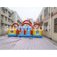 Double And Quadruple Stitched Inflatable Obstacle Course For Children Manufactures