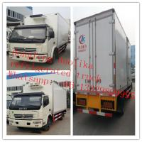 7tons 4*2 6wheels Dongfeng 120hp freezer van truck for sale, best price dongfeng LHD 5-7tons cold room truck for sale Manufactures