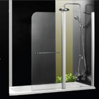 1000 X 1400 Over Bath Folding Shower Screens Frameless Aluminum Alloy Profile Manufactures