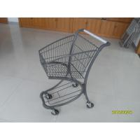 Free Duty Shop 40L Supermarket Shopping Carts , Airport Shopping Trolley Manufactures