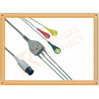 Buy cheap Generic AAMI 6 Pin ECG Patient Cable 3 Leads Snap IEC For Abbott Medical from wholesalers