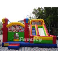 Durable Large Inflatable Combo Bouncers / Bouncy Playhouse With Digital Printing Manufactures
