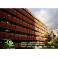 Perforated  Aluminium Exterior Cladding Round Hold Pattern 1400x5000mm Max Manufactures