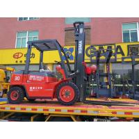 Manual 3 Ton Diesel Forklift , Diesel Fork Truck With Long Service Life Manufactures