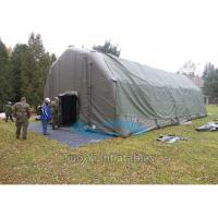 Strong Customized Inflatable Army Tent , Inflatable Military Tent for Camping Manufactures