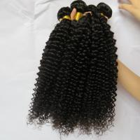 Unprocessed Human Virgin Hair Afro Kinky Curly Pure Brazilian Hair Bundles Natural Color Manufactures