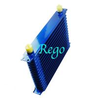 Quality Stacked Plate Universal Transmission Oil Cooler Kit Heavy Duty Blue Color for sale
