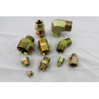 China Hydraulic BSP Flare Fittings , Male Thread BSP To NPT Adapter Fittings on sale