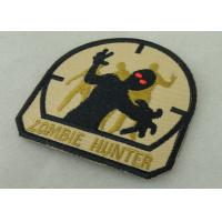 China Economic Military Uniform Badges ,  Iron Glue Cotton Fabric Embroidered Patches on sale