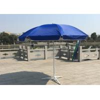 Outdoor Promotional Custom Printed Patio Umbrellas With Base , Steel Wire Ribs Manufactures