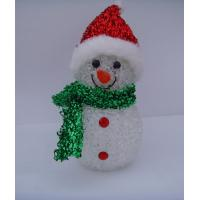 Indoor Colorful Hat Snowman Christmas Lights LED White Body Eco Friendly, Non Toxic Manufactures