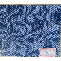 China Thickness 0.9 - 1.0mm Artificial Leather Cloth Flocked Pattern Soft Handfeeling on sale