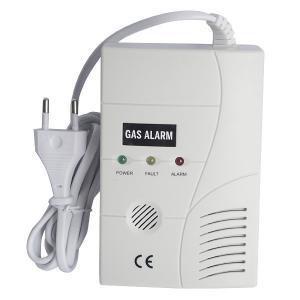 Quality 110v/220v AC Power Natural Gas Detector Alarm with 9V Battery backup for sale