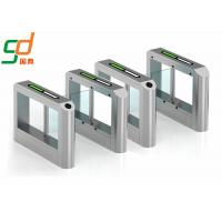 RFID Card Reader Swing Barrier Gate, Glass Gates Access Control Turnstile Manufactures