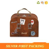 China Silverfirst Round Mini Suitcase Gift Custom Cardboard Box Baby Birthday Gift on sale