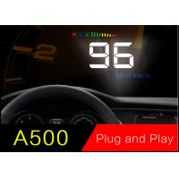 Nissan Car Windshield Display 3.5 Inch ,  Honda Toyota Heads Up Display For Obdii Vehicles Manufactures