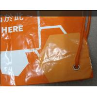Quality Fashion CPE / LDPE One Shoulder Plastic Drawstring Backpack For Travel for sale