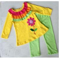 China fashion baby clothing set with cute flowers on sale