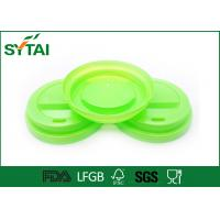 China Customized Plastic Coffee Lids For Tea / Beveage Paper Cup , Party Cup Lids FSC LFGB Approval on sale