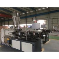 Conical Double Screw Extruder PVC Sheet Extrusion Line , Plastic Extrusion Equipment Manufactures