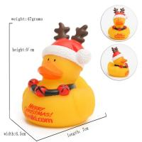 Quality Eco - Friendly Children Toy Collectible Rubber Ducks Christmas Ornament 7cm for sale