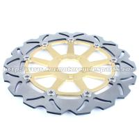 Quality CNC Anodized Motorcycle Brake Disc Brakes And Rotors Kawasaki ZX9R ZZR 1100 for sale
