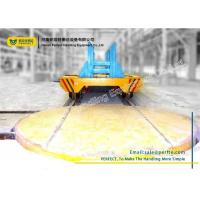 China Steel Industry Material Handling Turntable Rail Trolley Truck Turned Turnplate on sale