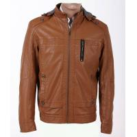 Wholesale Luxury and Stylish, Coffee / Dark Red and Urban Mens Leather Jacket with Hood Manufactures