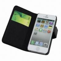 Leather Case for iPhone 5, with Card Holder Pockets Manufactures