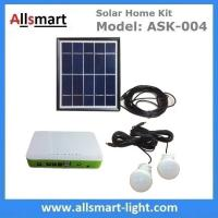 Quality DC Indoor Solar Home Lighting System Kit With 2 Bulbs 5M Wire Solar Emergency for sale