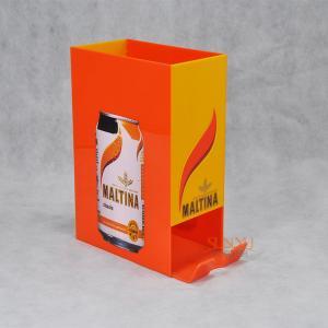 Orange Acrylic Food Display Stands / Beverage Display Rack For Can Beverage Manufactures