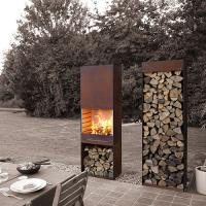 Yard / Garden Cast Iron Fire Pot , Corten Steel Fire Pit Wood Burning Fireplace Manufactures