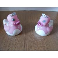 Pink Wedding Rubber Ducks Gift , Small Bride And Groom Rubber Ducks Phthalate Free Manufactures