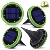 Quality 8 Led Solar Ground Lights Garden Solar Disk Ground Light For Night 2 Years Warranty for sale