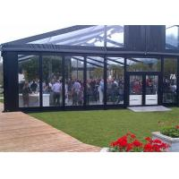 High Reinforced Aluminum Outdoor Wedding Tents With Sidewalls Glass Cover 20x20m Manufactures