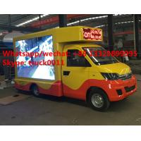 Karry brand mini mobile LED digital advertising truck for sale, HOT SALE! best price 4*2 LHD mini P6/P8 LED truck Manufactures